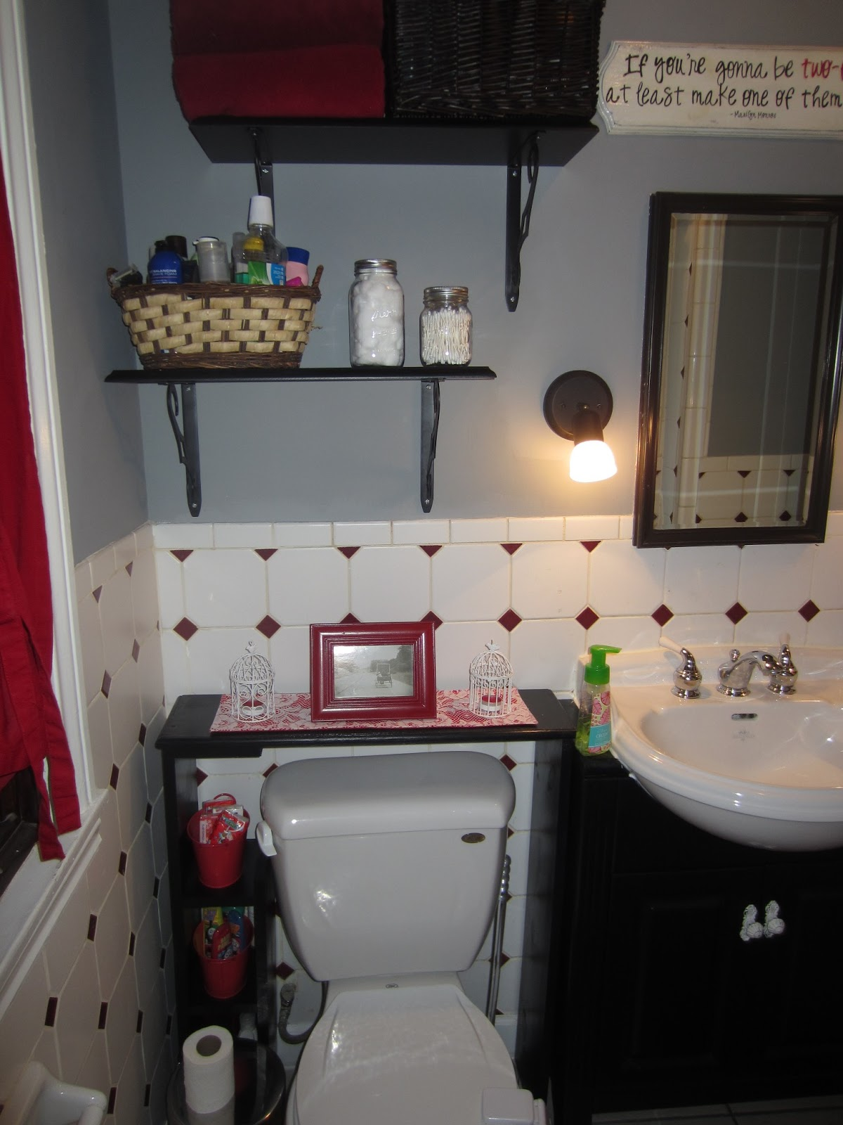 Small Bathroom Painted Vanity