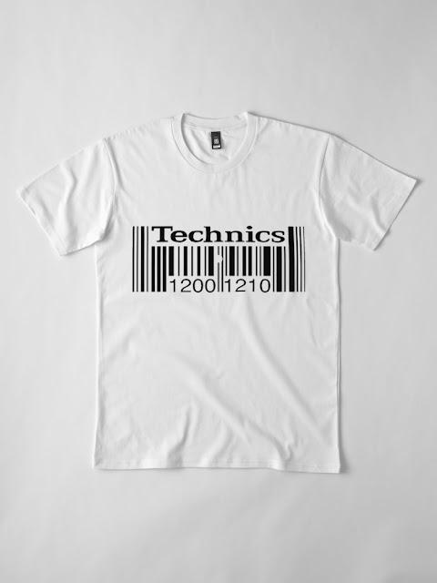 TECHNICS 1200, TECHNICS 1210 BAR CODE TSHIRT