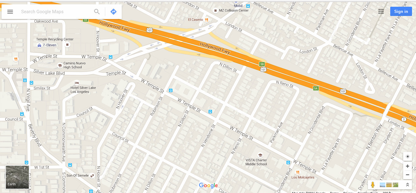 Sue Basko Lawyer For Independent Media Vendome Underpass Tent - Los angeles map silver lake