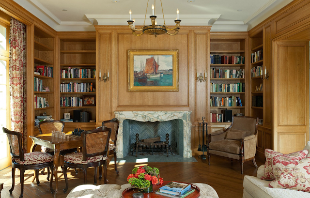 Gorgeous French Country chartreuse style home interior by John Malick - found on Hello Lovely Studio