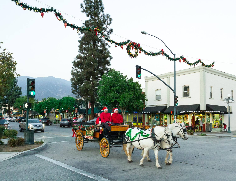 Horse Drawn Wagon Rides Through Old Town Monrovia