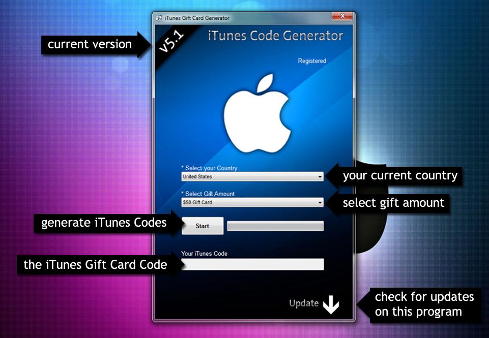 iTunes Gift card Generator 2012