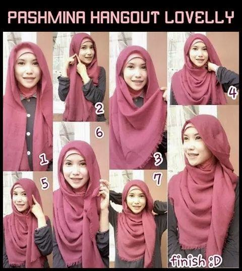 Cara memakai jilbab pashmina yang cocok untuk jalan