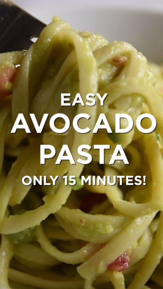Quick And Easy Avocado Pasta