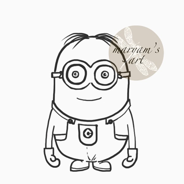 Home spun around saturday art school how to draw a minion for Fun and easy pictures to draw