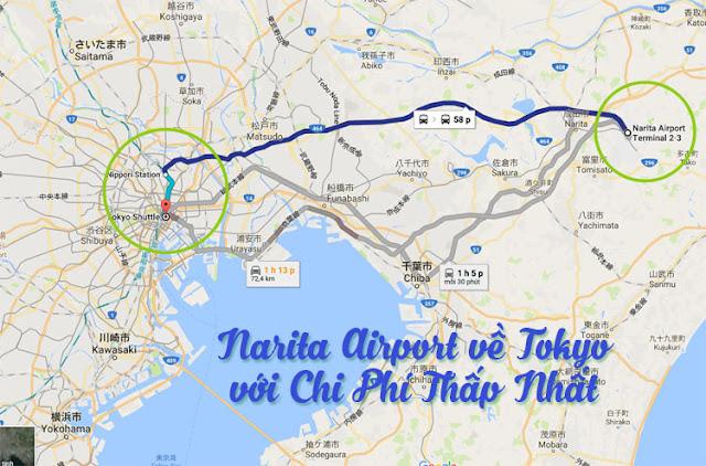 BÍ KIẾP ĐI SÂN BAY NARITA VỀ TOKYO RẺ NHẤT