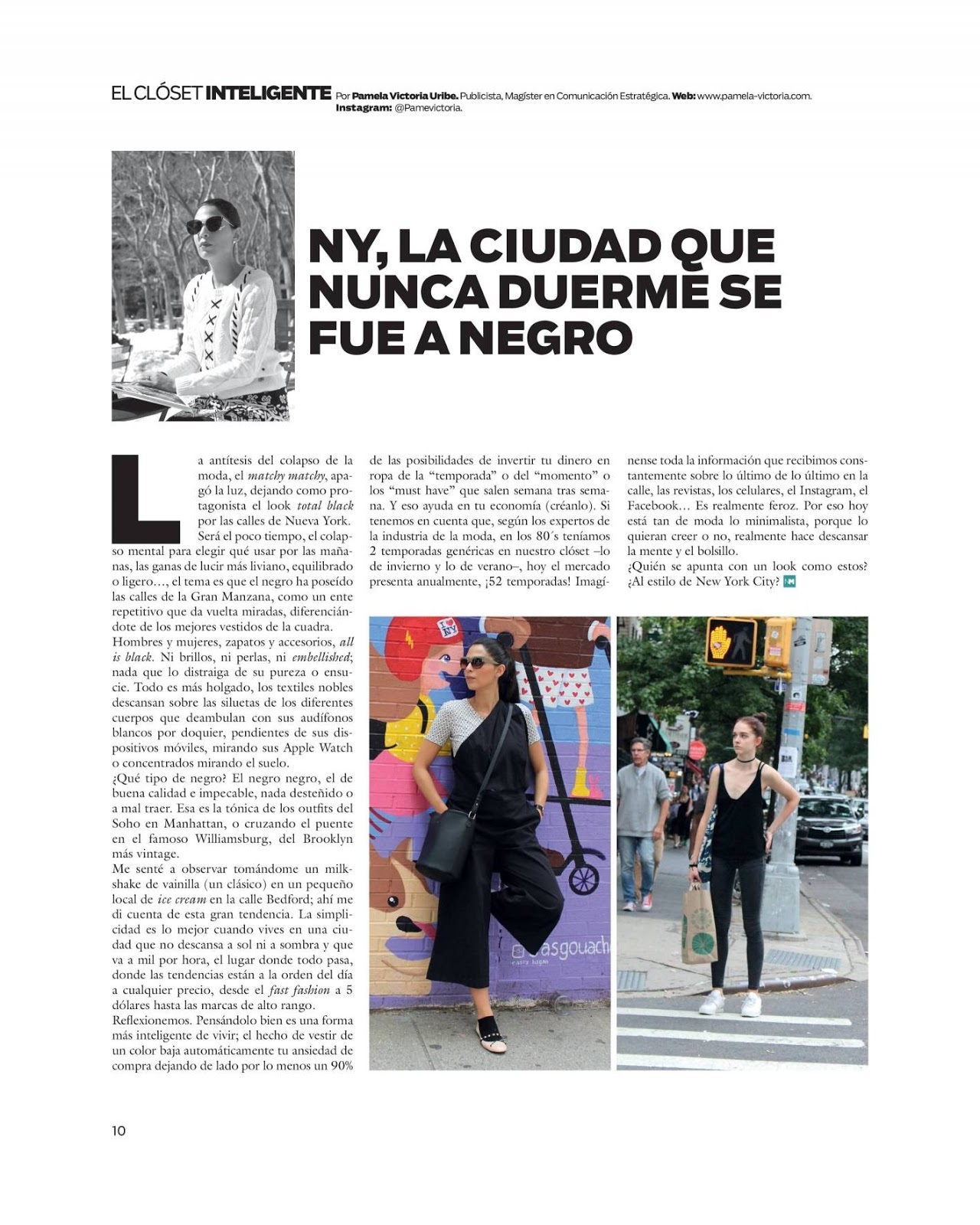 Pamela victoria - columnista de moda - experta en moda - columnista de medios chilenos - fashion columnist -