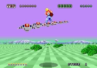 descargar videojuego portable Space Harrier