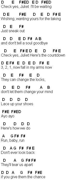 Flute Sheet Music: Check Yes Juliet