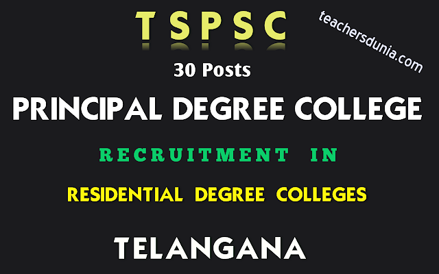 TSPSC-Principal-Degree-Colleges-In-Residential-Degree-Colleges-Recruitment-Notification