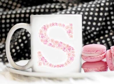 Personalized in PINK coffee cup