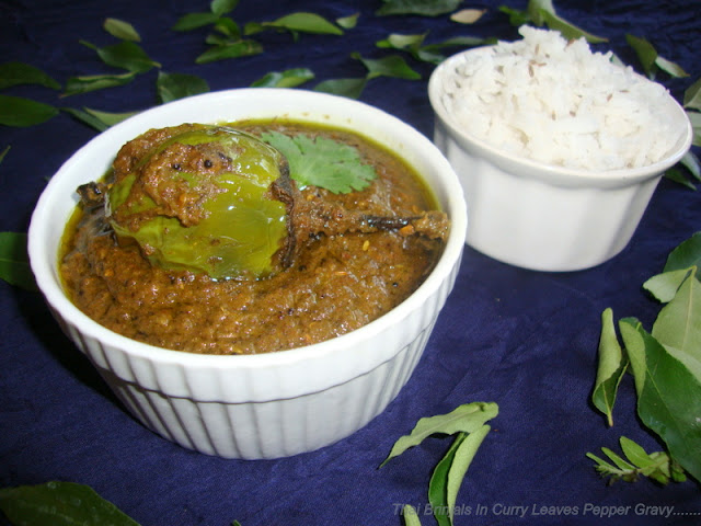 images of Brinjals In Curry Leaf Gravy Recipe / Thai Brinjals In Curry Leaf Pepper Gravy Recipe