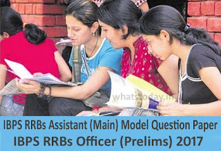 IBPS RRB Assistant Mains Model Question Paper 2017, IBPS Officer Previous Question Paper
