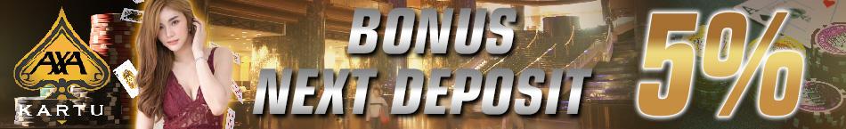 Poker Online Indonesia Bonus Deposit 5%