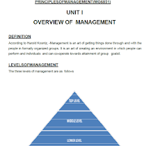 Principle Of Management Notes Pdf