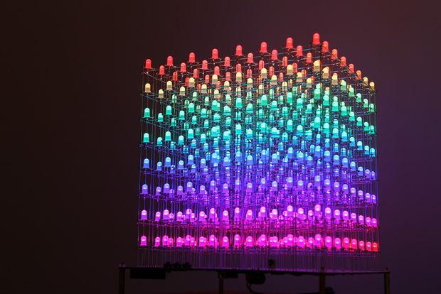 Cube à LED 8x8x8