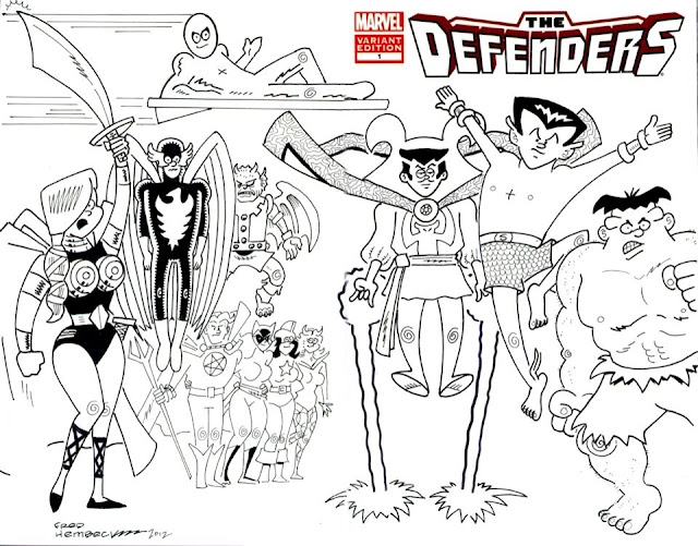 Marvel Comics of the 1980s: The Defenders by Fred Hembeck