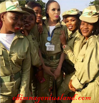 Cross dresser is the main centre of attention at NYSC Orientation camp