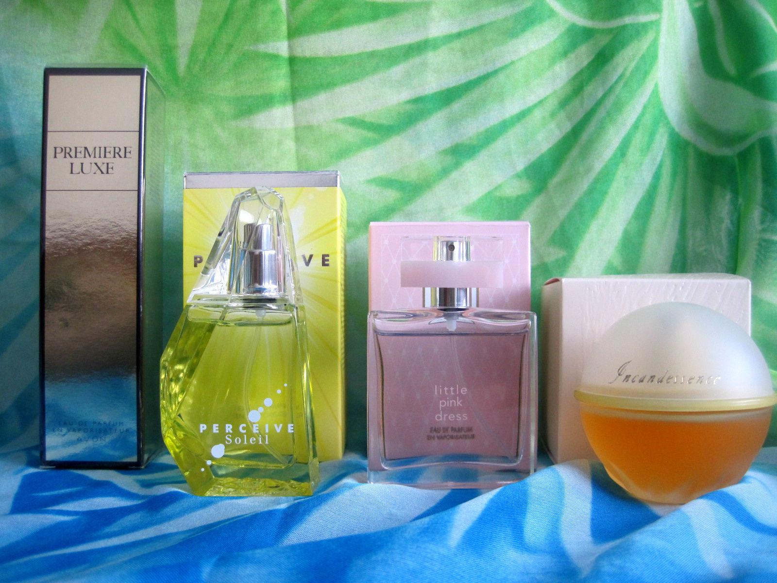 perfumy Avon, mixoflife, Premiere Luxe, Perceive Soleil, Little Pink Dress, Incandessense