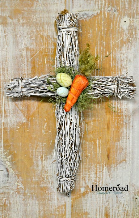 Grapevine Easter Cross Wreath