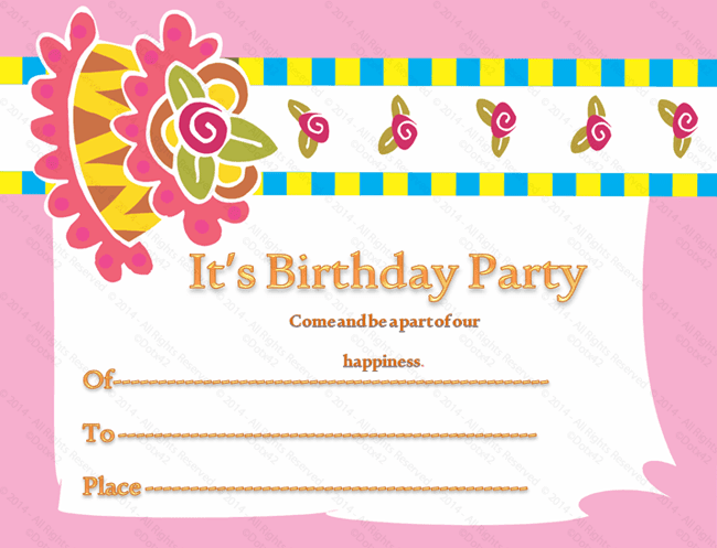 Invitation Card Template Video: Birthday Gift Certificate Templates