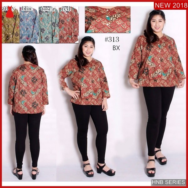 HNB283 Model Dress Ukuran Besar Jumbo Batik Bigsize BMG Shop