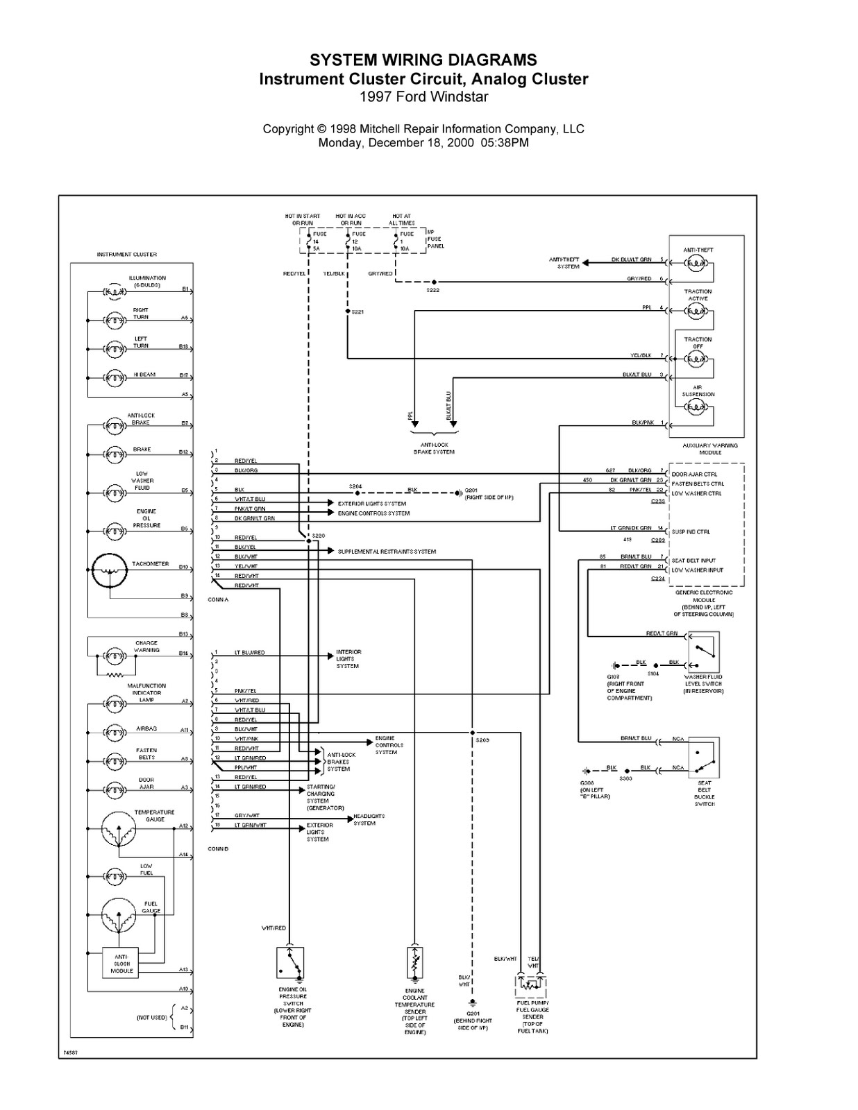 1997 ford windstar complete system wiring diagrams ... complete system wiring diagrams 1997 ford windstar