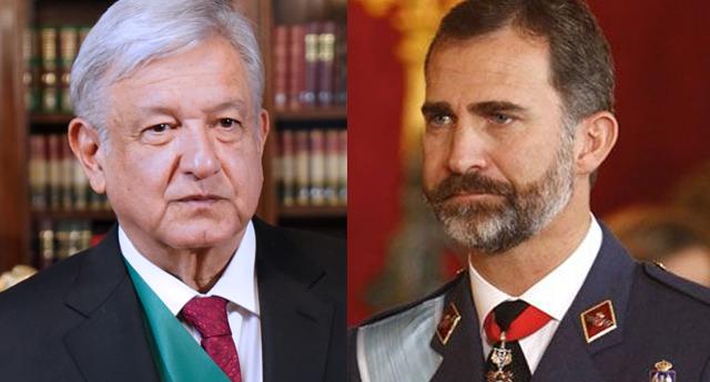 """López Obrador pide al rey Felipe VI que pida perdón por los abusos en la """"Conquista"""""""