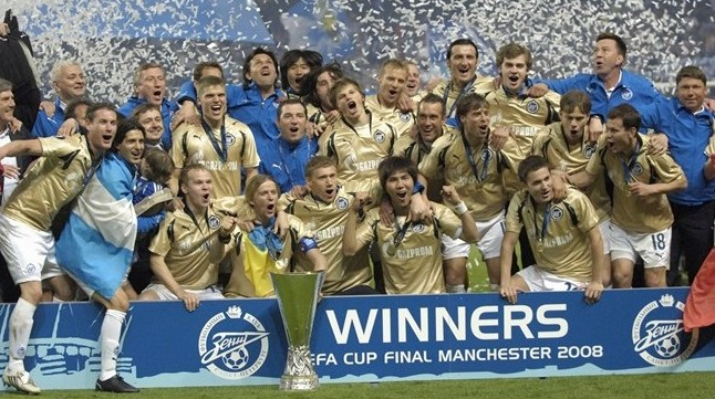 Футбол зенит- байер уефа 2007- 2008