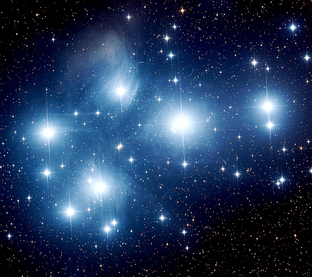 M45 - The Pleiades imaged at LRGB 600 sec, 2x2 bin on ATEO-1 by Insight Observatory.