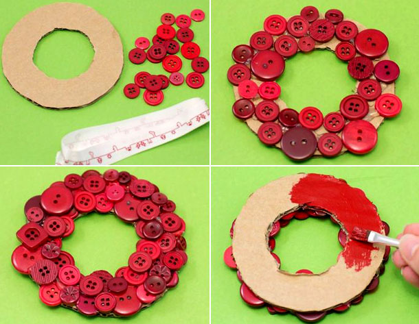 Aprende c mo hacer lindos adornos navide os con botones - Ideas para hacer adornos navidenos ...