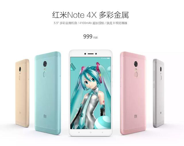 【Xiaomi Redmi Note 4X】S625にパワーアップしたXiaomiのRedmi Note 4Xが登場。初音ミクとのコラボカラー版も!