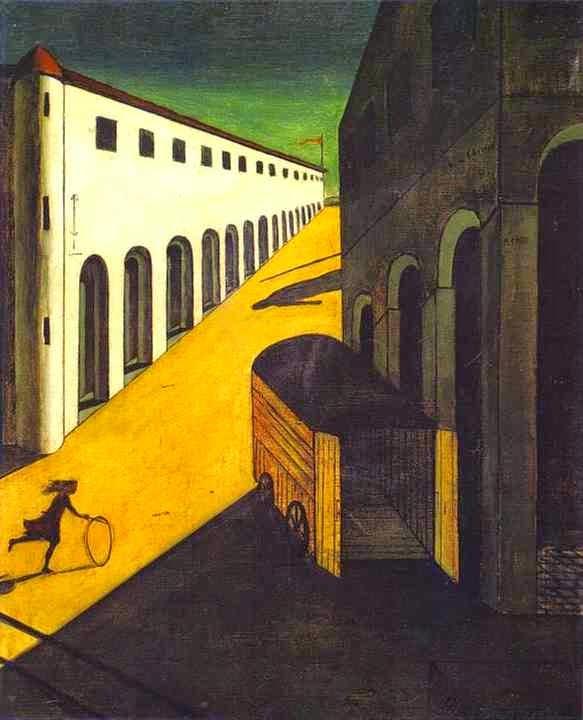 Mistério e Melancolia de uma Rua - Giorgio de Chirico ~ Representante da pintura metafísica