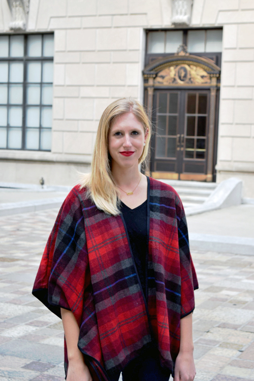 madewell t-shirt and poncho