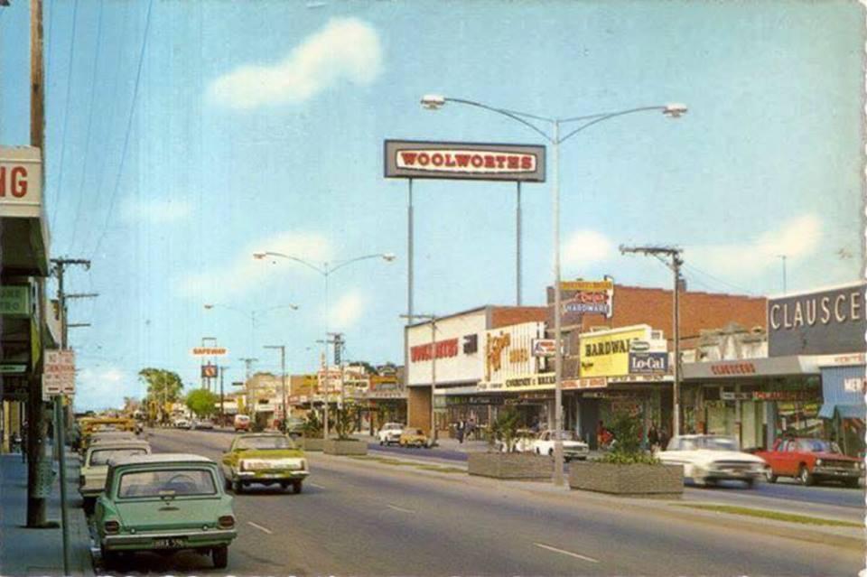 Old Dandenong: Springvale (main street) in the early 1970's on noble park, box hill, caroline springs, glen waverley,