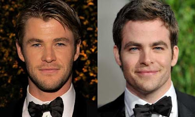 Chris Hemsworth (George Kirk) e Chris Pine (James Kirk) - TG TREK: Notizie, Novità, News da Star Trek