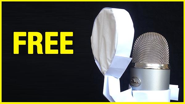طريقة بسيطة لصناعة فلتر للميكرفون مجاني لتسجيل صوتي واضح