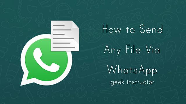 Send Document File on WhatsApp