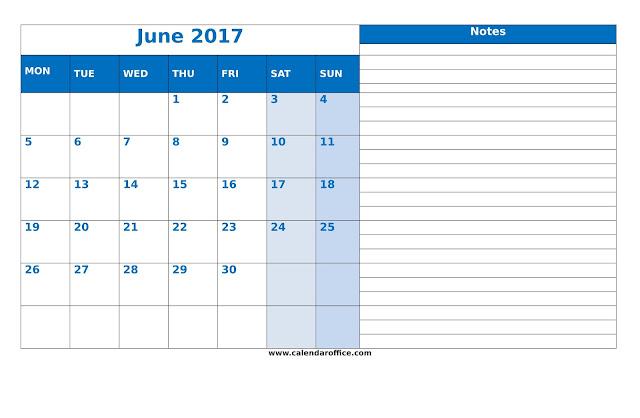 June 2017 Calendar Printable, June 2017 Calendar, 2017 June Calendar, Calendar June 2017, June Calendar 2017