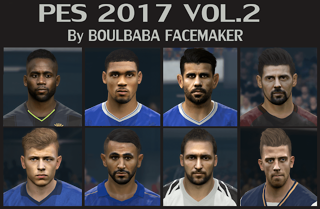 PES 2017 Facepack vol.2 by Boulbaba Facemaker