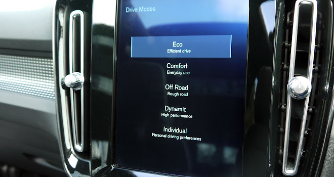 Volvo XC40 touchscreen
