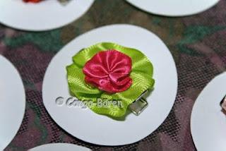 Gabriele S Conga Crafts Blog Blumen Haarclips