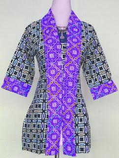 Baju batik atasan modern