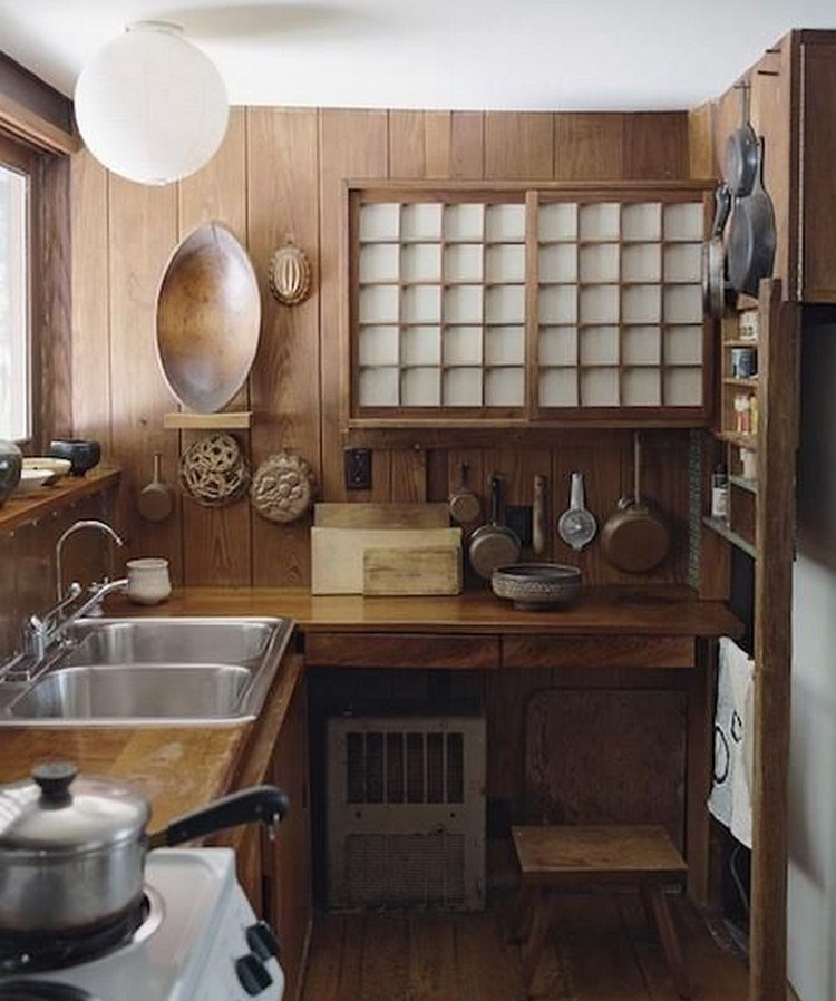 3. Japanese clean kitchen with open shelf