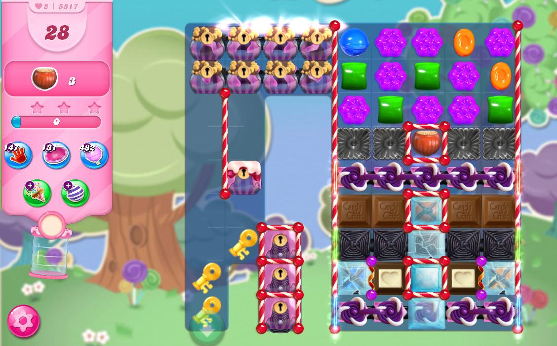Candy Crush Saga level 5817