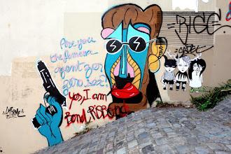 Sunday Street Art : Risbo et Fred le Chevalier - passage Gautier - Paris 19