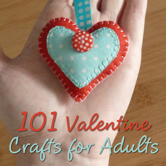Valentine's Day Craft Held in Adult Hand