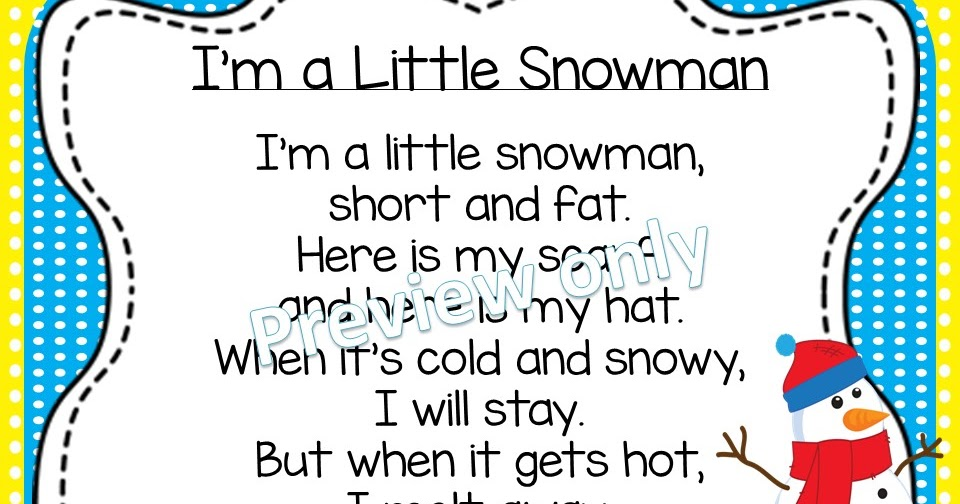 graphic regarding Chubby Little Snowman Poem Printable identify Small Snowman Poems Estimates of the Working day
