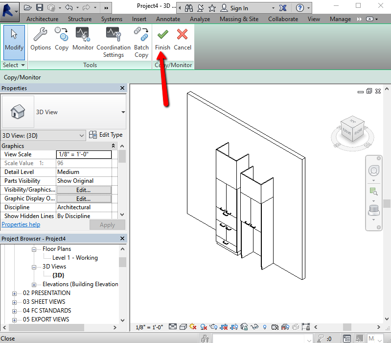 how to put lights into casework family revit