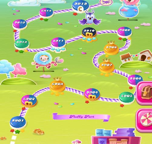 Candy Crush Saga level 5901-5915